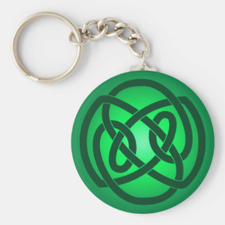 Green Single Loop Knot Keychain