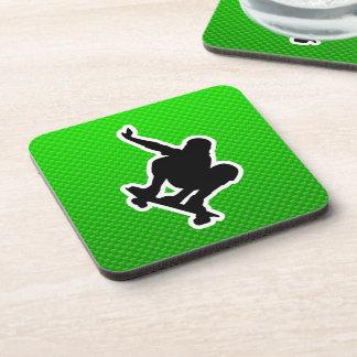 Green Skateboarding Coaster
