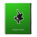 Green Skateboarding iPad Folio Cover
