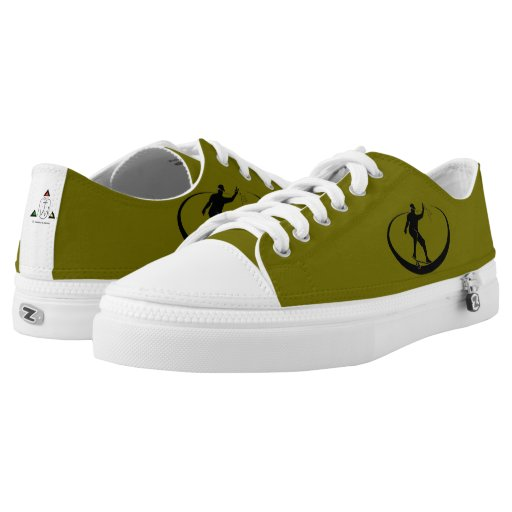green skater low tennis shoe printed shoes zazzle