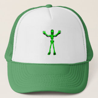 Green Skeleton Trucker Hat