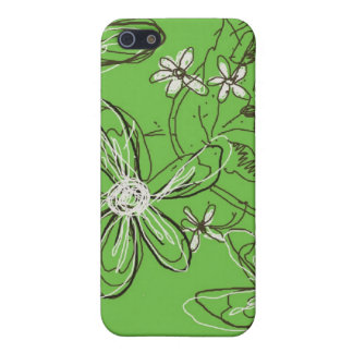 Green Sketched Flowers Speck iphone Case