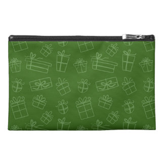 Green Sketchy Gift Pattern Travel Accessory Bag