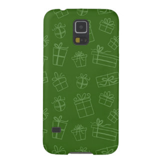 Green Sketchy Gift Pattern Galaxy S5 Cover