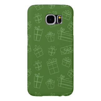 Green Sketchy Gift Pattern Samsung Galaxy S6 Case