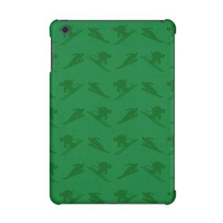 Green ski pattern iPad mini retina covers