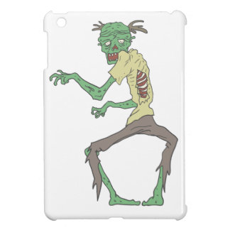 Green Skin Creepy Zombie With Rotting Flesh Cover For The iPad Mini