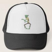 Green Skin Creepy Zombie With Rotting Flesh Trucker Hat