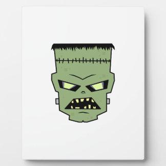 Green Skin Frankenstein Head Plaque
