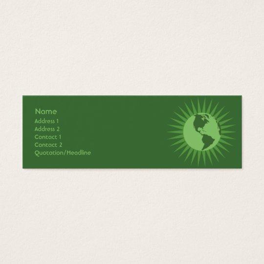 Green - Skinny Mini Business Card