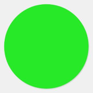 Green Skins Classic Round Sticker