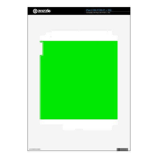 Green Skins Decals For iPad 2
