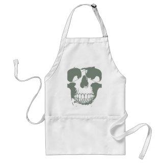 Green Skull Adult Apron