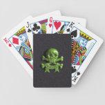 Green Skull and Cross bones Poker Deck