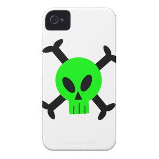 Green Skull And Crossbones Blackberry Bold Case