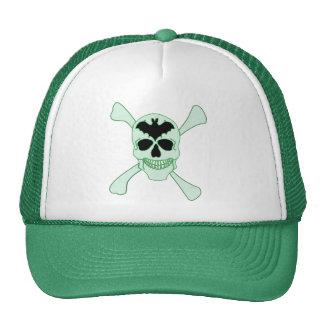 Green Skull And Crossbones Hat