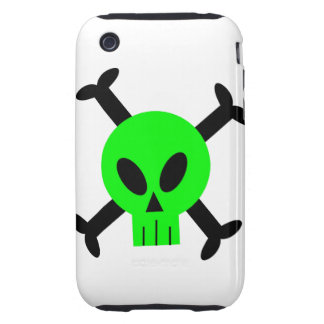 Green Skull And Crossbones iPhone 3 Casemate Case Tough iPhone 3 Cover
