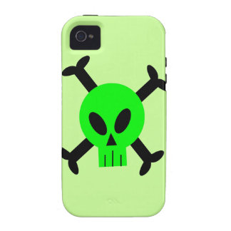 Green Skull And Crossbones iPhone 4 Caseable Case iPhone 4 Cover