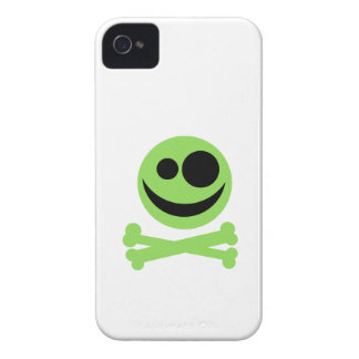 Green Skull and Crossbones. iPhone 4 Cases