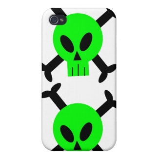 Green Skull And Crossbones iPhone 4 Speck Case Cover For iPhone 4