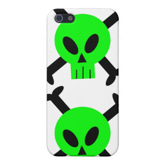 Green Skull And Crossbones iPhone 4 Speck Case iPhone 5 Cases