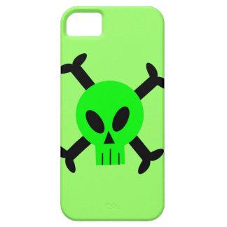 Green Skull And Crossbones iPhone 5 Case