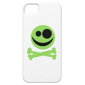 Green Skull and Crossbones. iPhone 5 Case