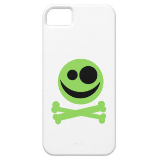 Green Skull and Crossbones. iPhone 5 Covers