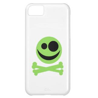 Green Skull and Crossbones. iPhone 5C Cases