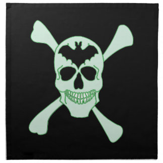 Green Skull And Crossbones Napkins