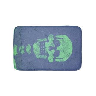 Green Skull! Bath Mat