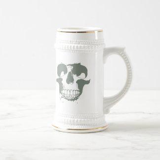 Green Skull Beer Stein