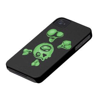 Green Skull Blackberry Bold Cover