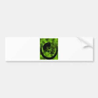 Green Skull Bumper Sticker