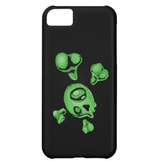 Green Skull Case For iPhone 5C