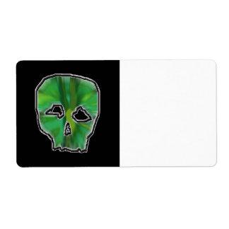 Green Skull. Custom Shipping Labels