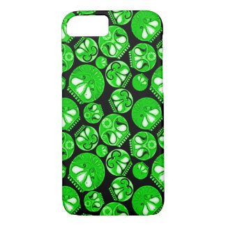Green Skull Diary iPhone 7 Case