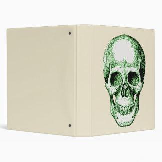 Green Skull Face Binder