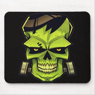 green skull frankenstein mouse pad