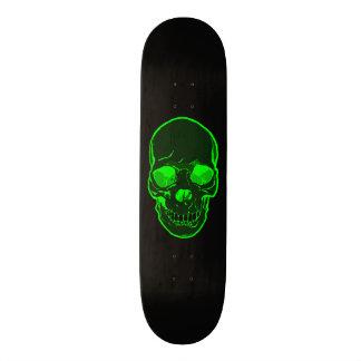 Green Skull Graphics Skateboard for Boys & Girls