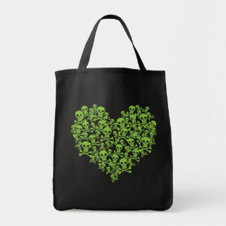 Green Skull Heart Bags
