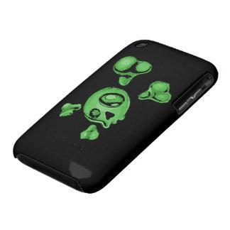 Green Skull iPhone 3 Case