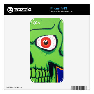 Green Skull iPhone 4/4s Case Skins For The iPhone 4S