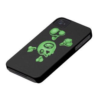 Green Skull iPhone 4 Case-Mate Case