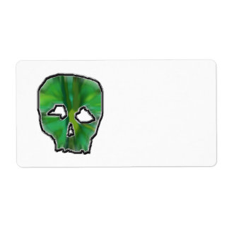 Green Skull. Label