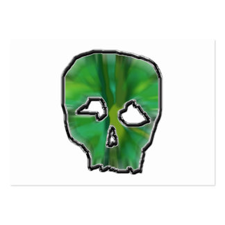 Green Skull. Large Business Card