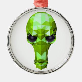 Green Skull Metal Ornament