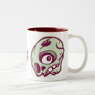 Green Skull Coffee Mug