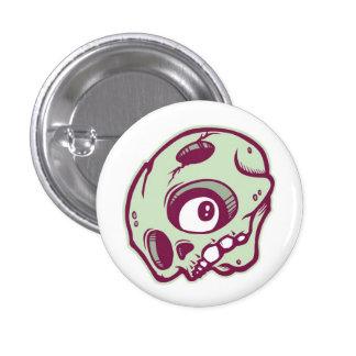 Green Skull Pinback Button