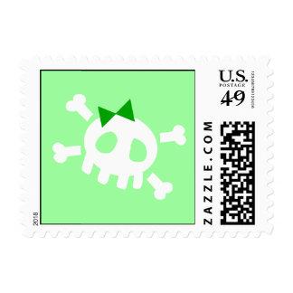 Green Skull Postage